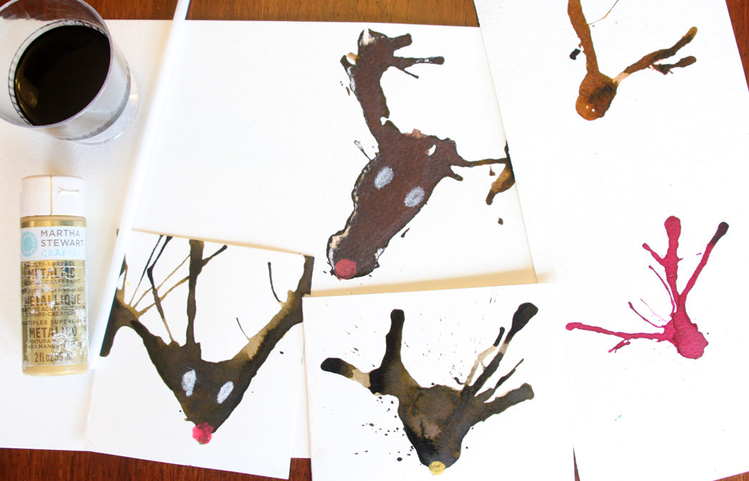 Watercolor reindeer
